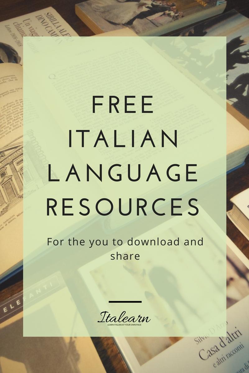 free italian language resources