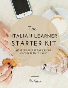 the italian learner starter kit