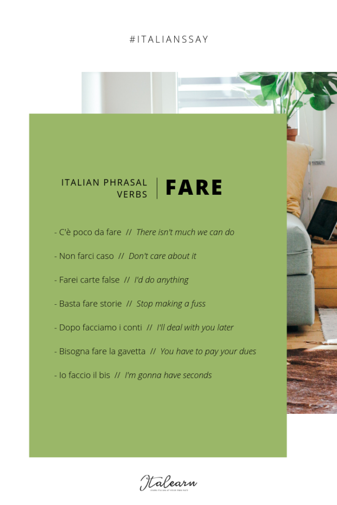 Italian phrasal verbs_fare_italearn.com