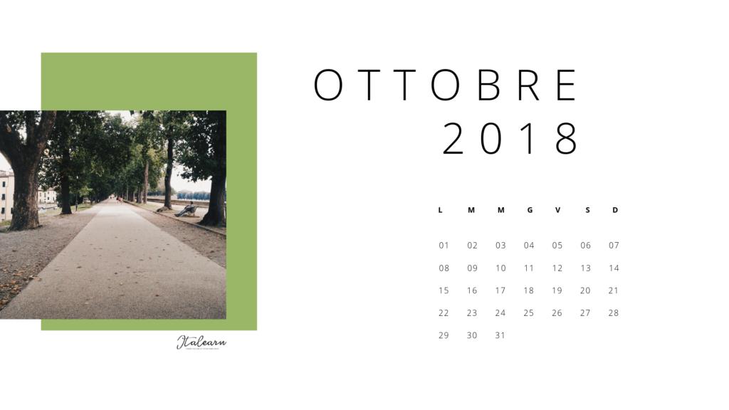 calendario ottobre 2018_italearn.com