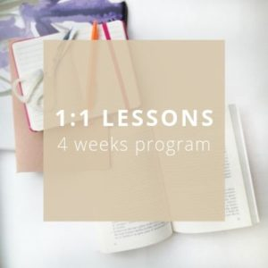 1:1 Lessons 4 weeks program - Private Italian classes - italearn.com