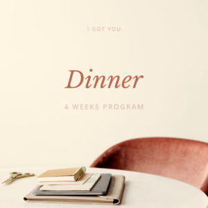I got you - dinner 4 weeks Italian program - italearn.com