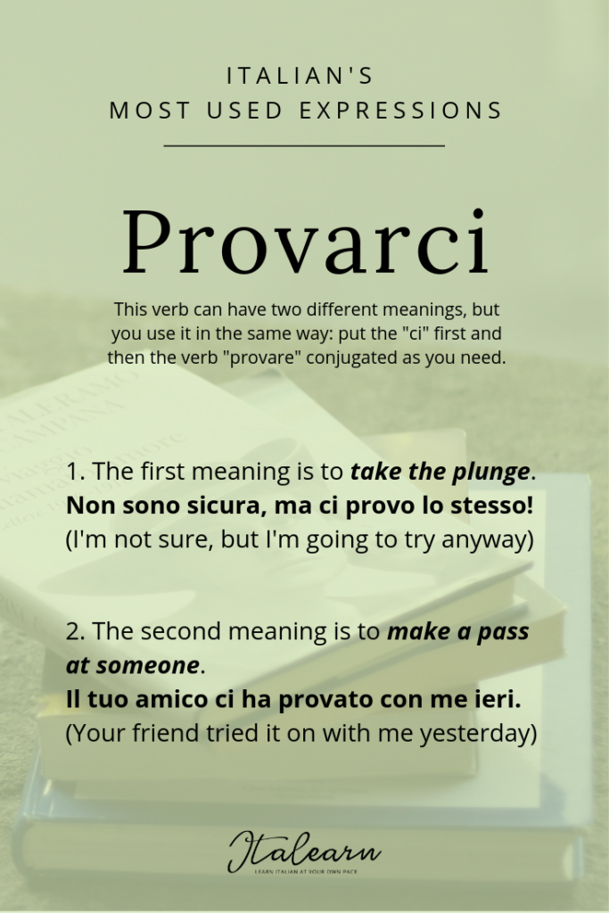 Italian's most used expressions_ provarci - italearn.com