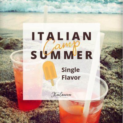 Italian Summer Camp - single flavor - italearn.com