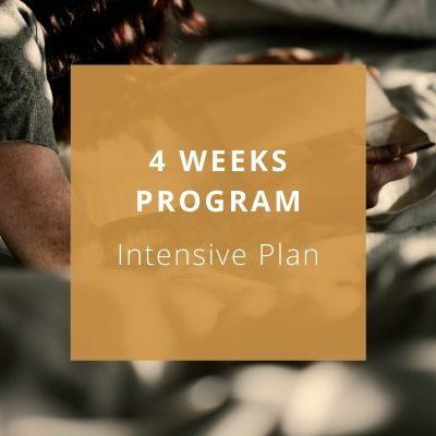 4 weeks program - intensive plan - Private Italian classes - italearn.com