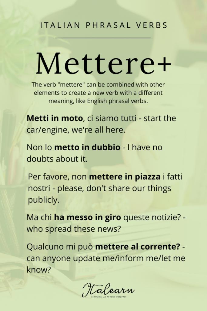 Italian phrasal verbs_ mettere - italearn.com