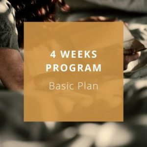 4 weeks program - basic plan - Private Italian classes - italearn.com