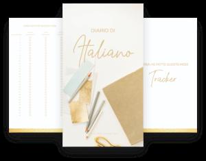 diario di italiano gold foil by italearn.com